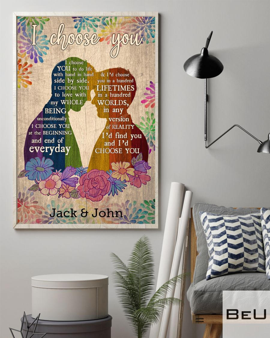 Personalized Gay LGBT I choose you poster2