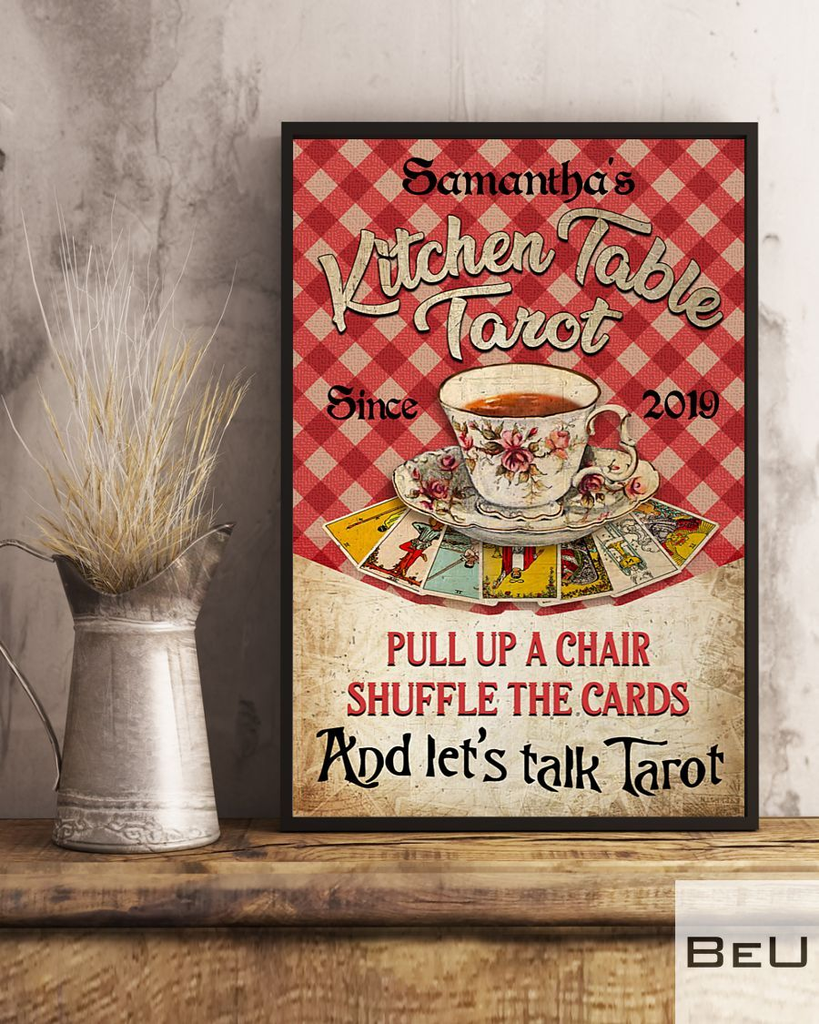 Personalized Kitchen Table Tarot Pull Up A Chair Shuffle The Cards Poster2