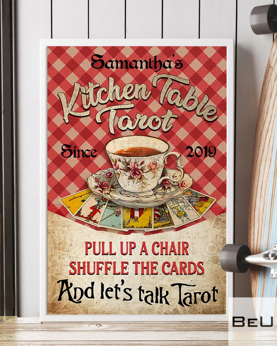 Personalized Kitchen Table Tarot Pull Up A Chair Shuffle The Cards Poster3