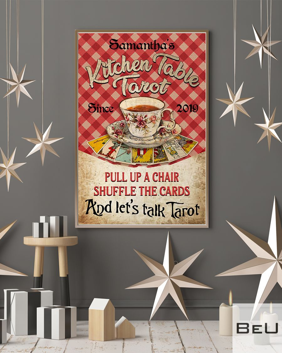 Personalized Kitchen Table Tarot Pull Up A Chair Shuffle The Cards Poster4