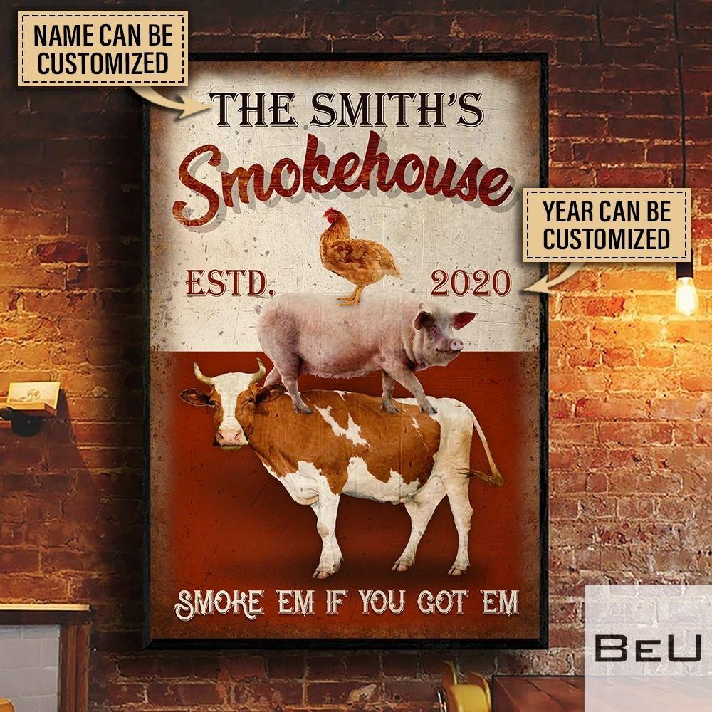 Personalized Smokehouse BBQ Smoke 'em if you got 'em poster2