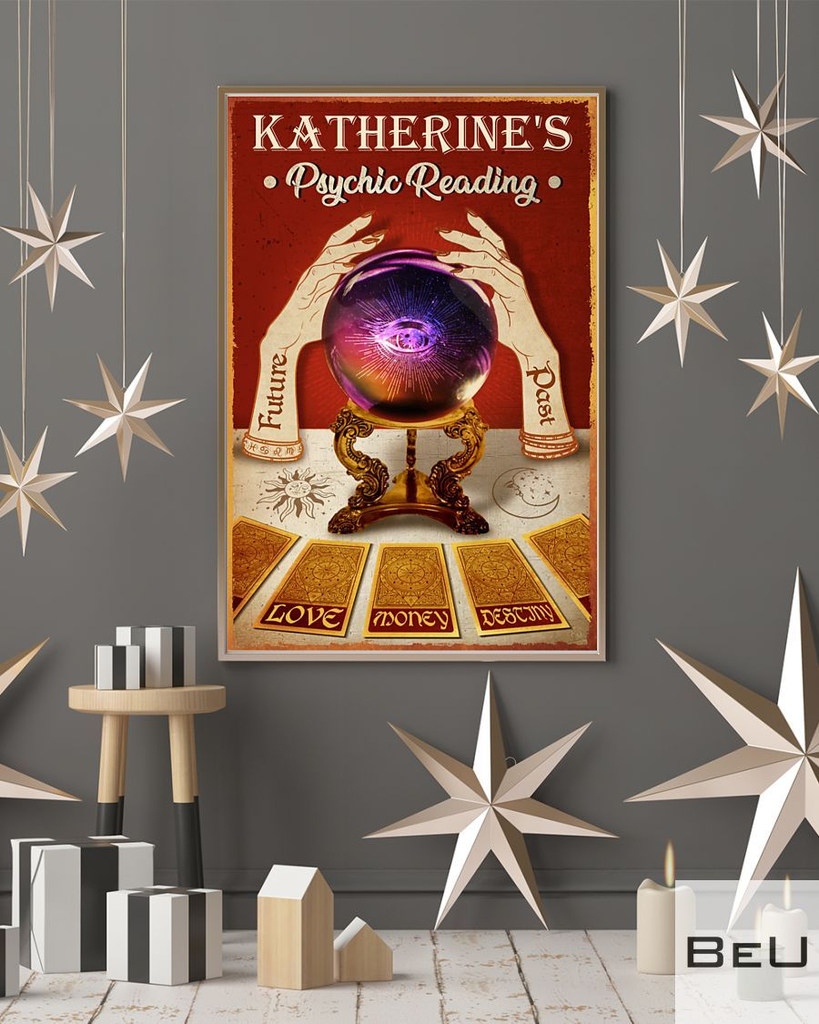 Personalized Tarot Crystal Ball Psychic Reading Poster4