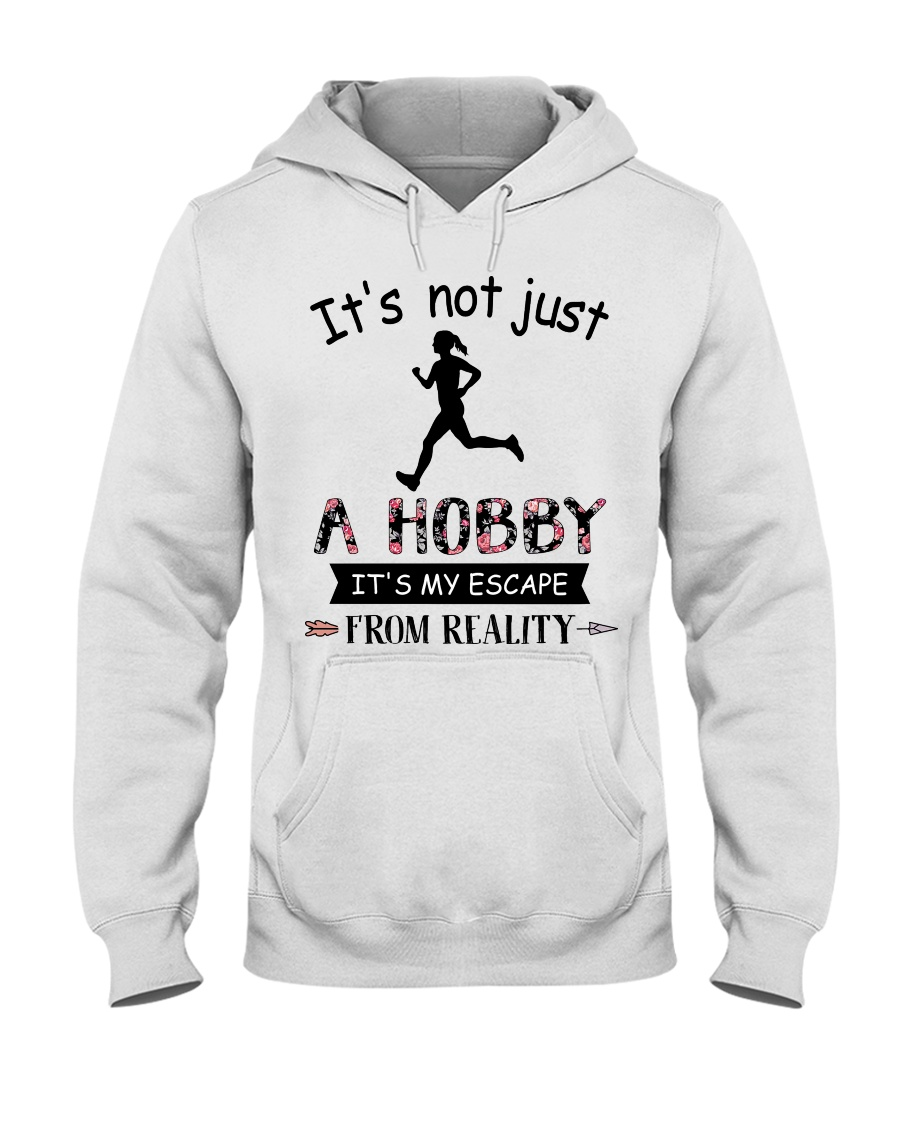 Running Girl It's not just a hobby It's my escape from reality shirt1