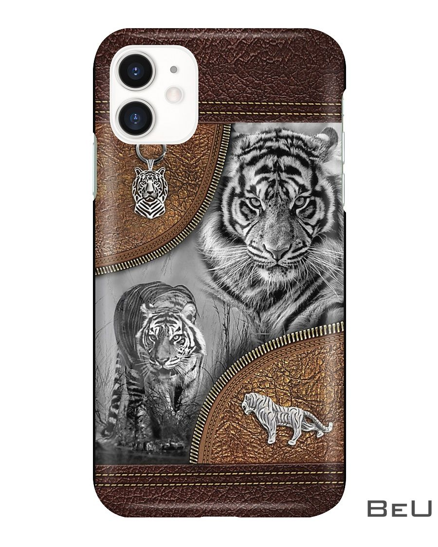 Tiger - Leather Pattern Phone Case2