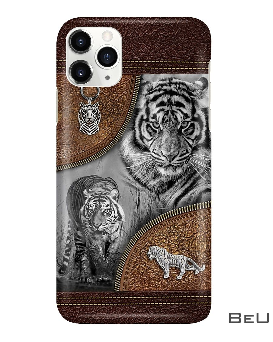 Tiger - Leather Pattern Phone Case3