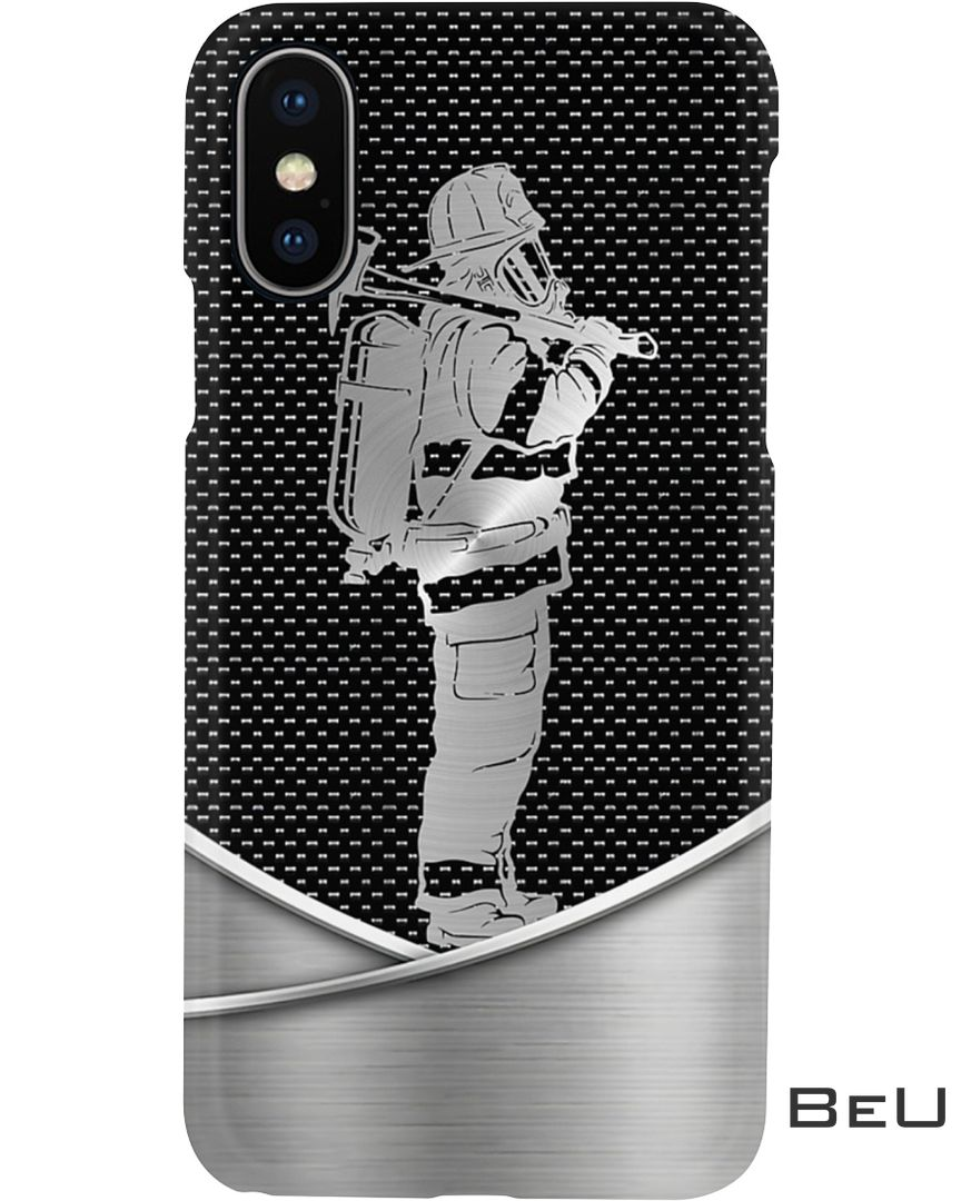 Firefighter as metal phone case 2