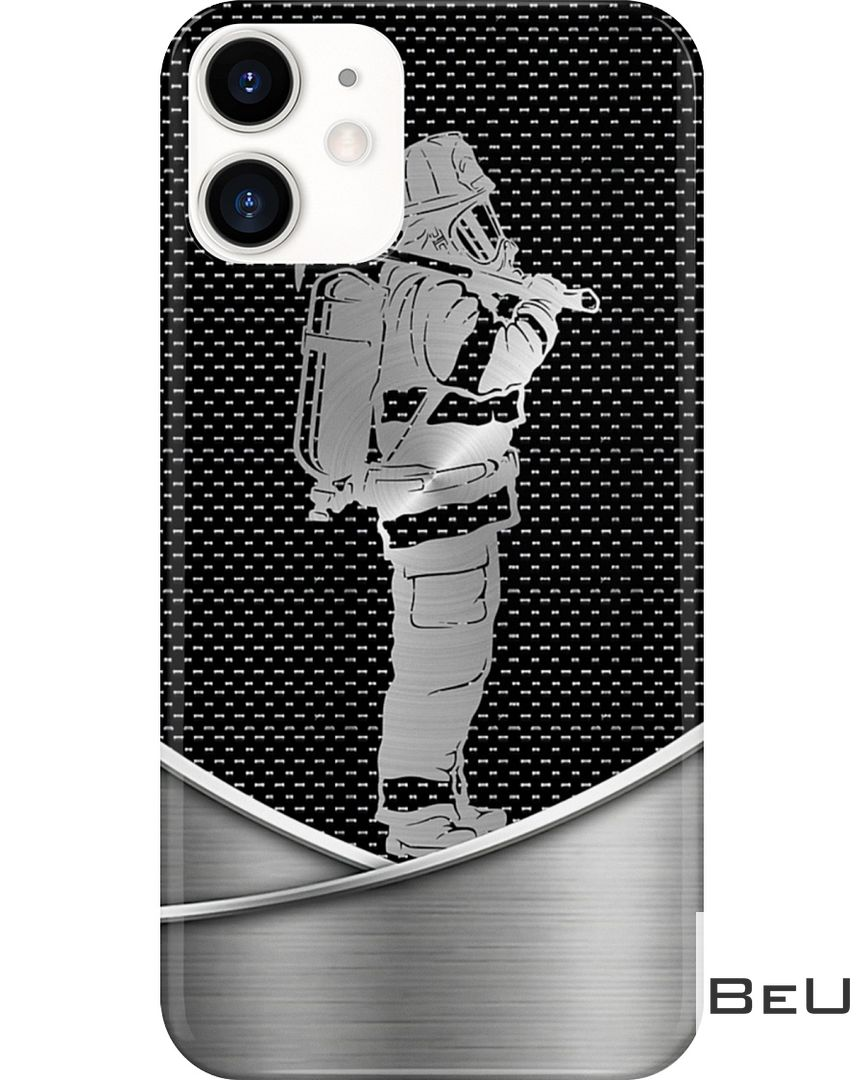 Firefighter as metal phone case 3