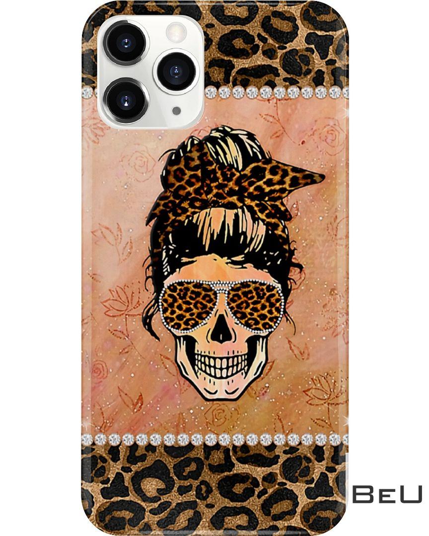 Lady Skull Leopard Skin Phone Case 2