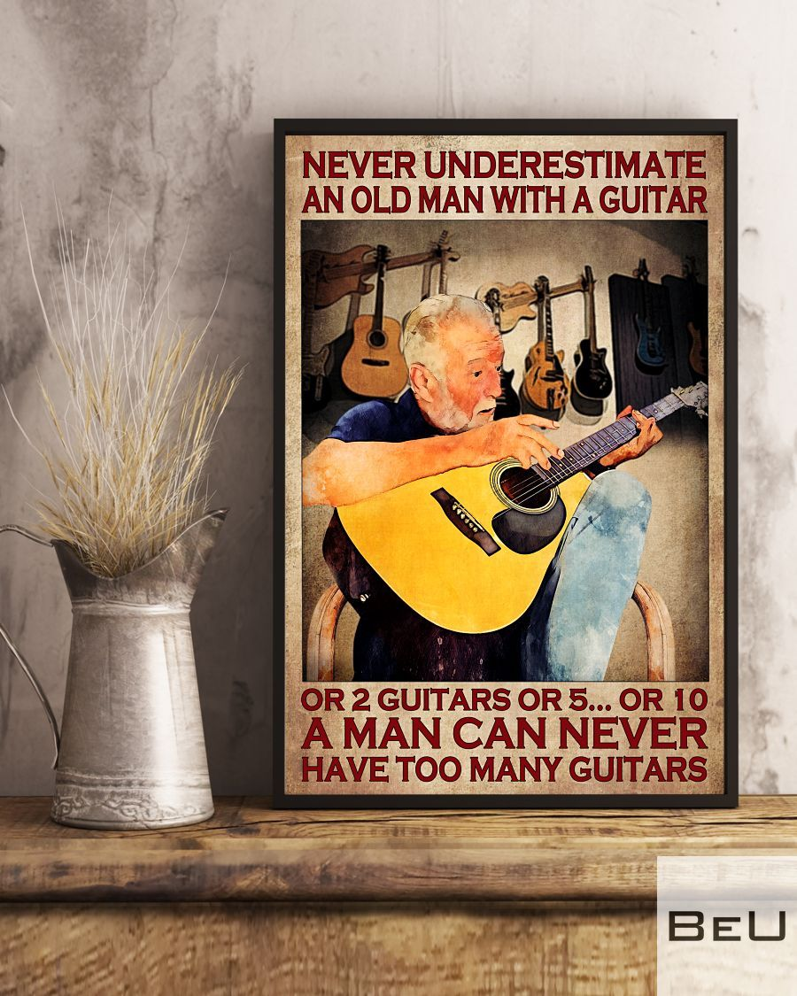 Never underestimate an old woman with a guitar or 2 guitars or 5 or 10 poster3