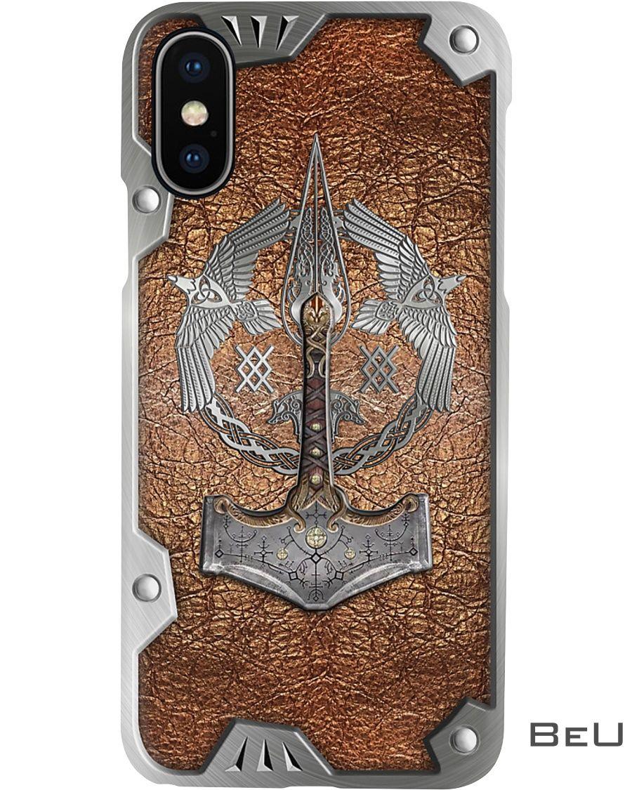 Viking Axe Metal Pattern Phone Case