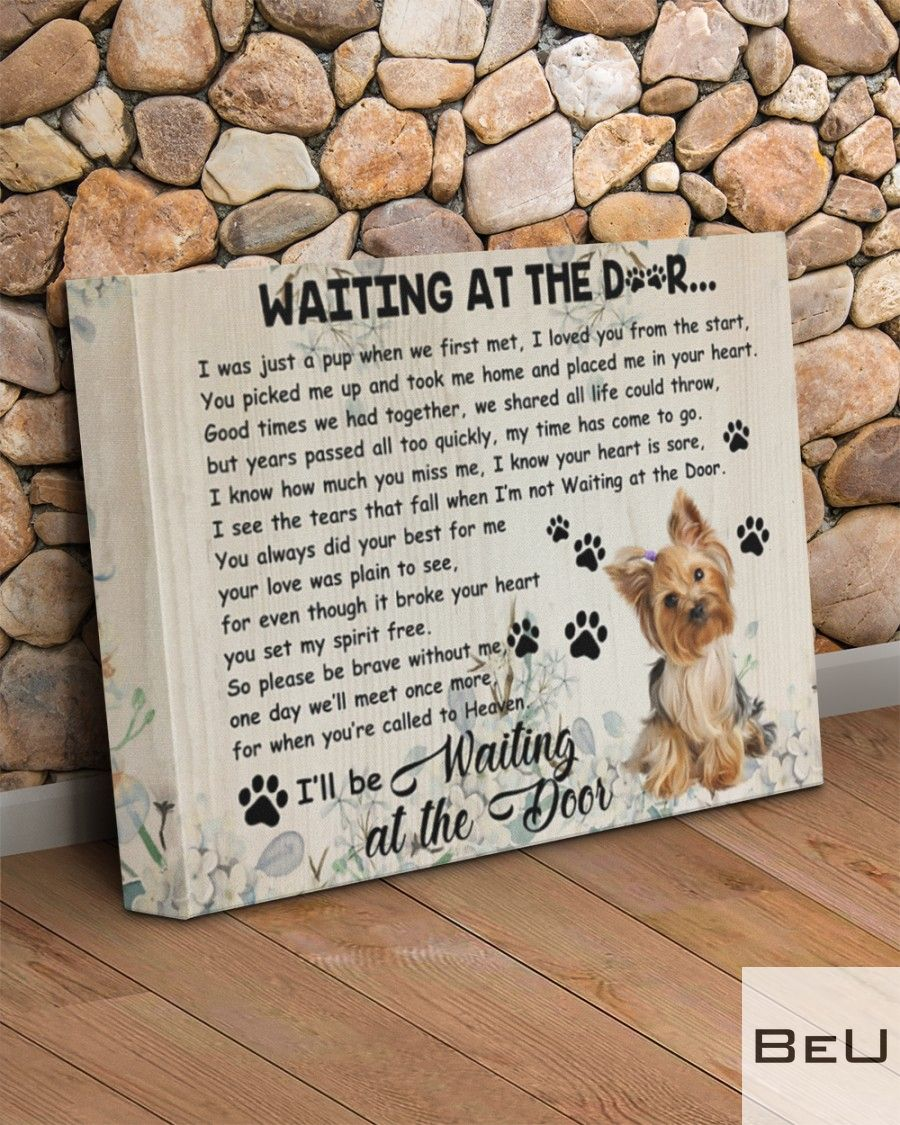Yorkshire Terrier Waiting At The Door Canvasc