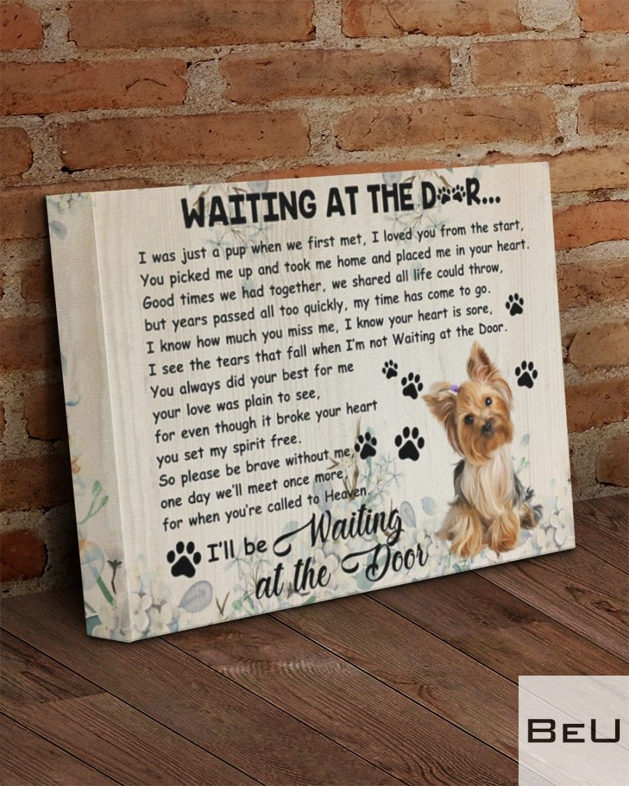 Yorkshire Terrier Waiting At The Door Canvasx
