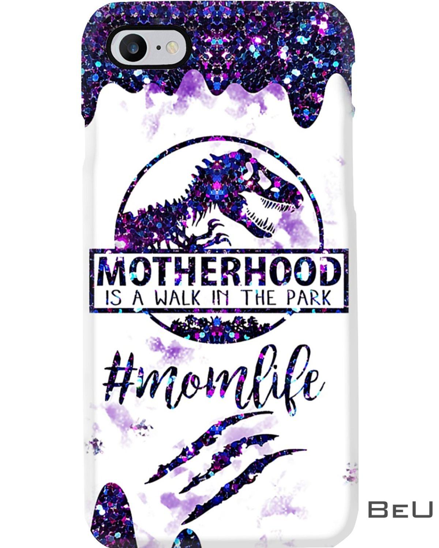 Dinosaur Motherhood Is A Walk In The Park Phone Case