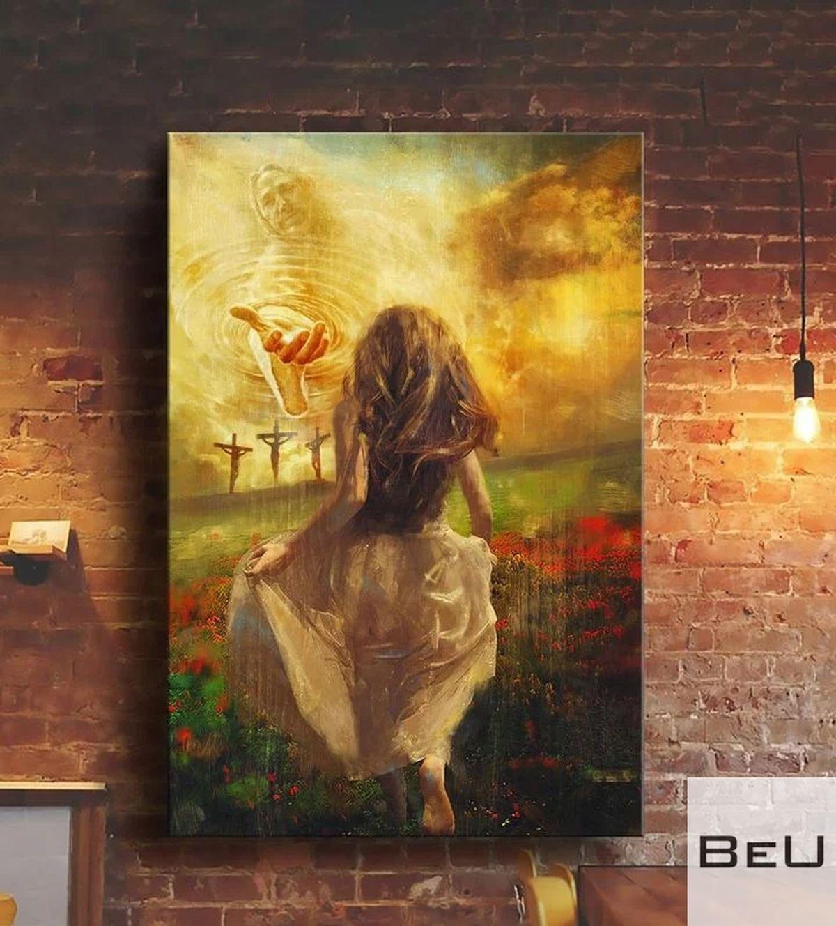Jesus - Girl Running Poster