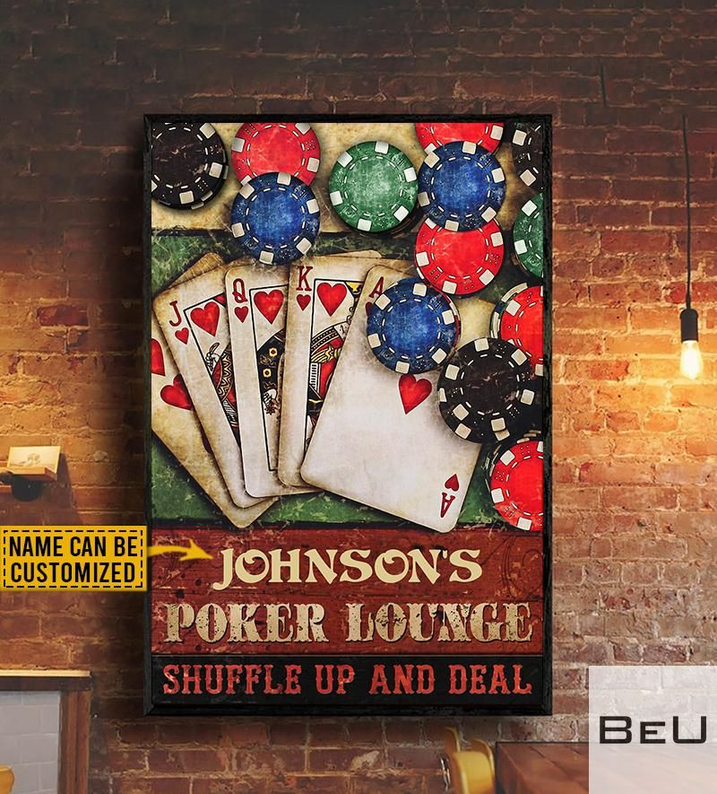 Personalized Poker Lounge Shuffle Up And Deal Poster Beutee