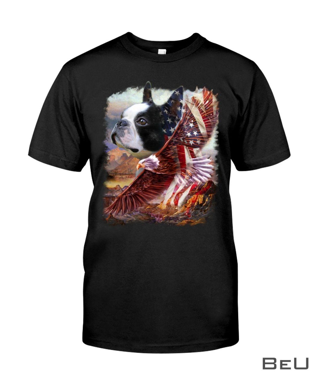 Boston Terrier American Patriot For Terrier Lover Shirt