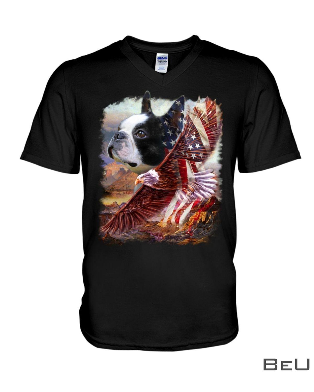 Boston Terrier American Patriot For Terrier Lover Shirtx