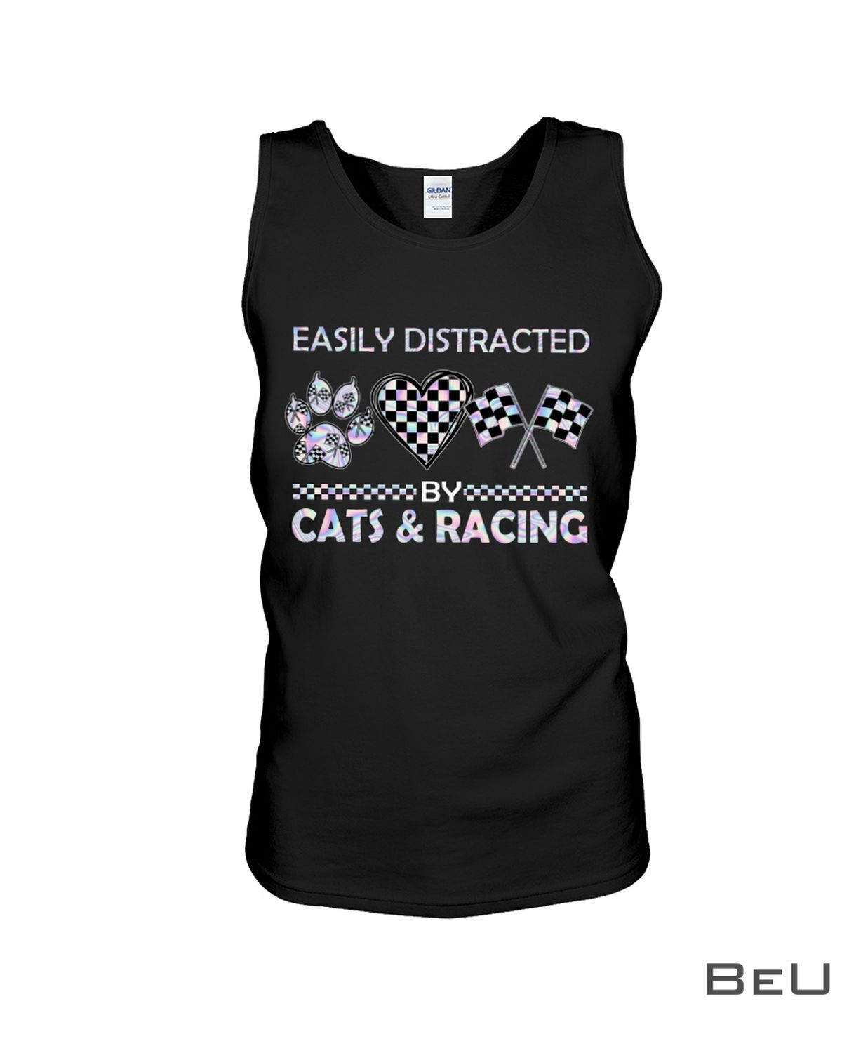 Easily Distracted By Cats And Racing Shirtc
