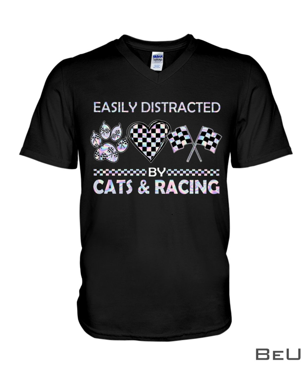 Easily Distracted By Cats And Racing Shirtx