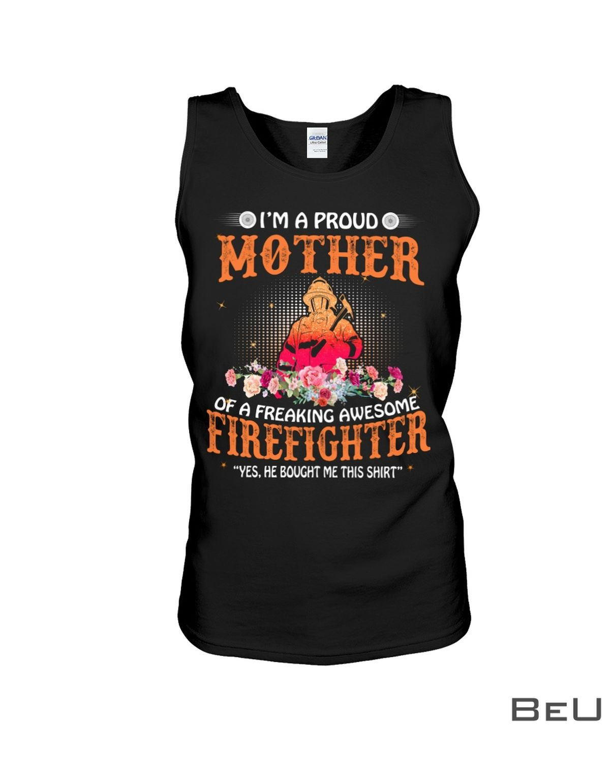 I'M A Proud Mother In Law Of A Freaking Awesome Fireffighter Shirtx