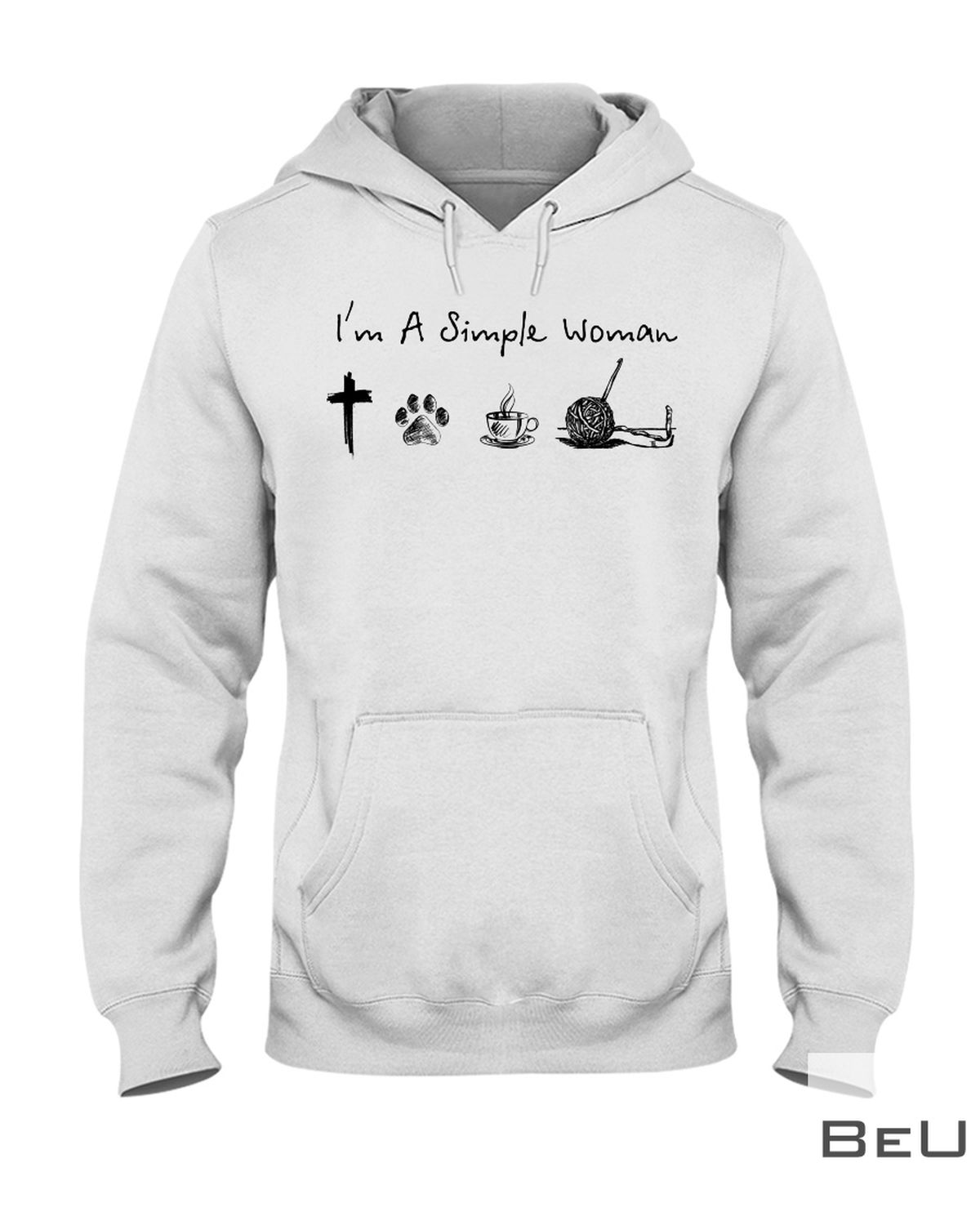 I'm A Simple Woman Who Loves Jesus Dog Coffee And Crocheting Shirtz