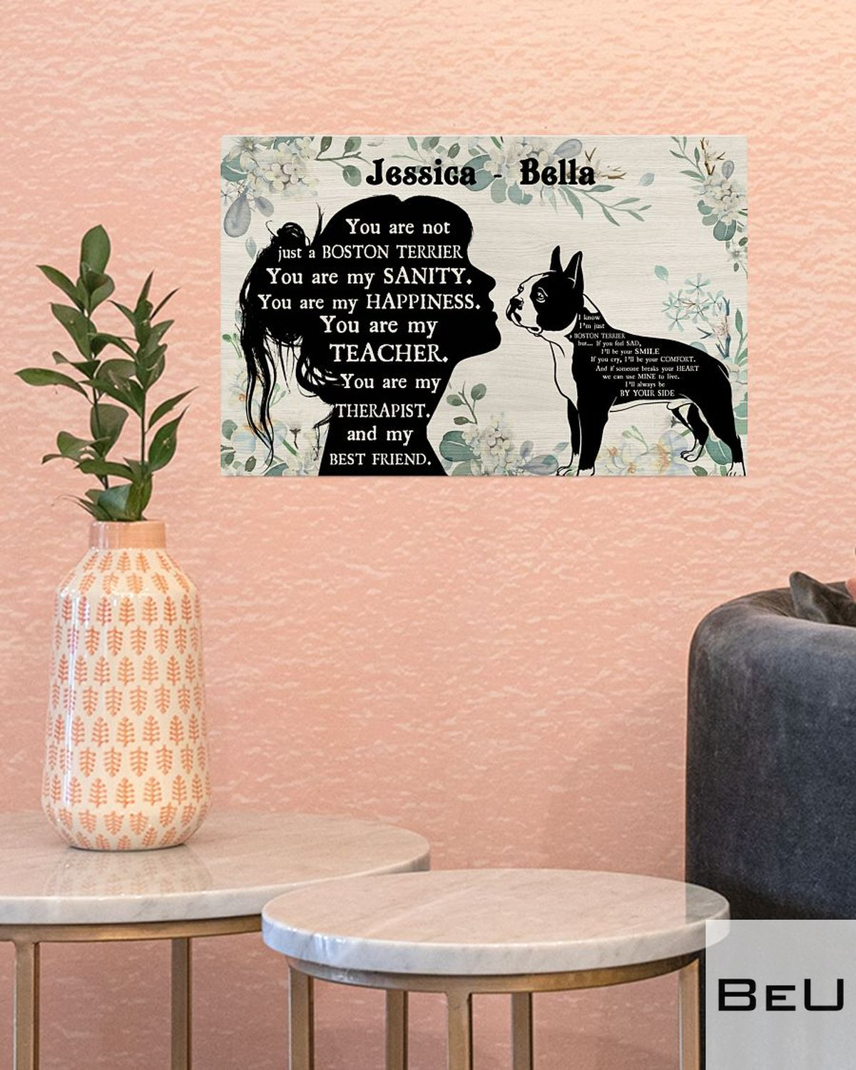Personalized You Are Not Just A Boston Terrier You Are My Sanity Posterc