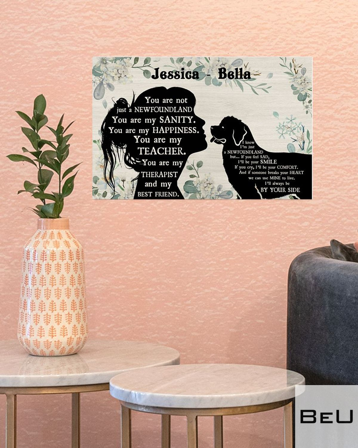 Personalized You Are Not Just A Newfoundland You Are My Sanity Posterc
