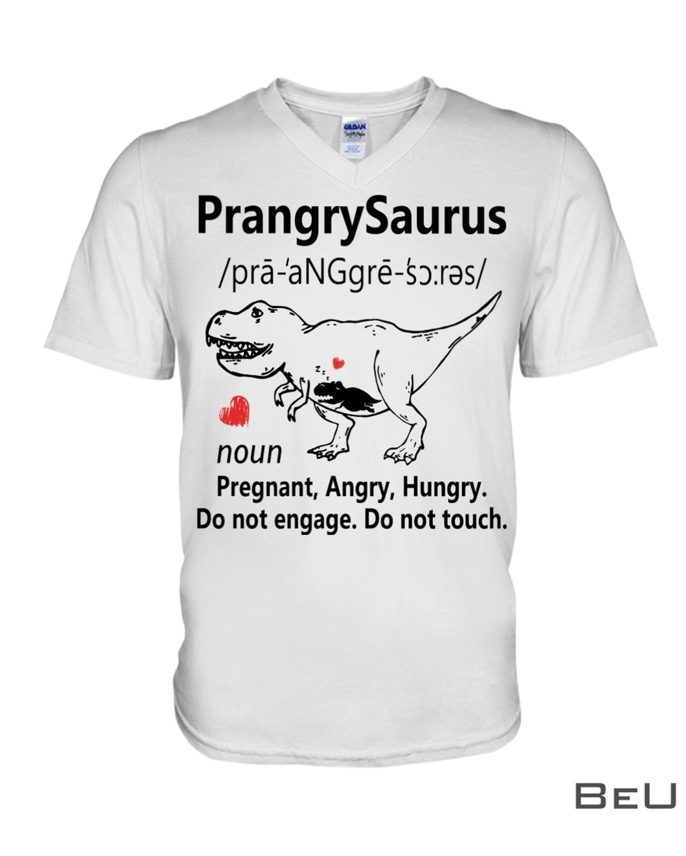 PrangrySaurus Definition Noun Pregnant Angry Hungry Shirtx