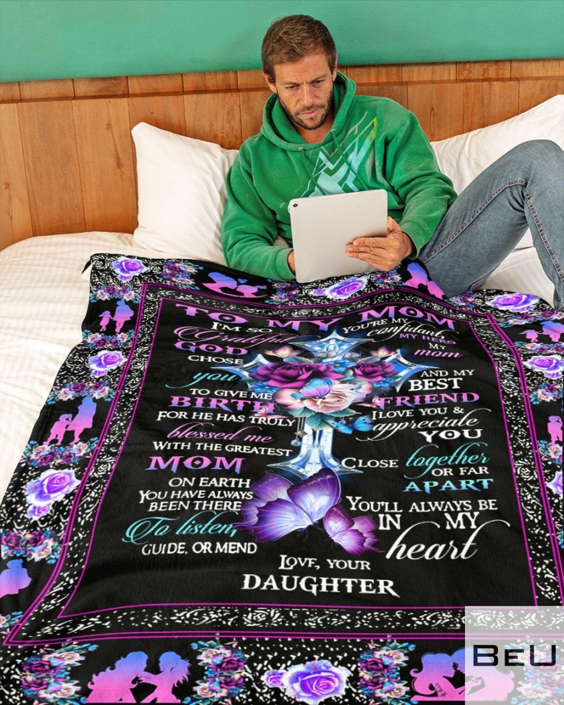 To my mom I'm so grateful you're my confidant my hero daughter fleece blanketc