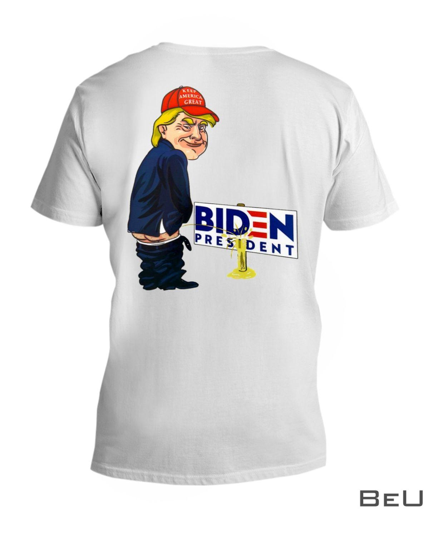 Trump Peeing Pissing on Biden Shirtx