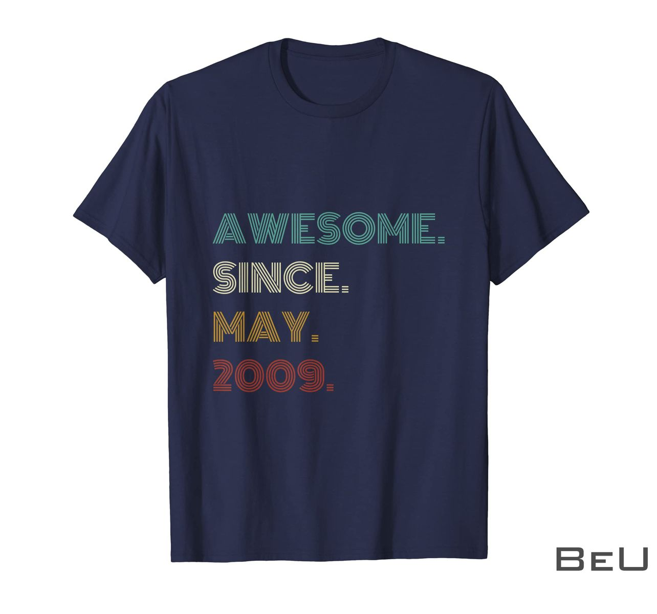 12th Birthday Awesome Since May 2009 12 Year Old Boys Girls Shirt z
