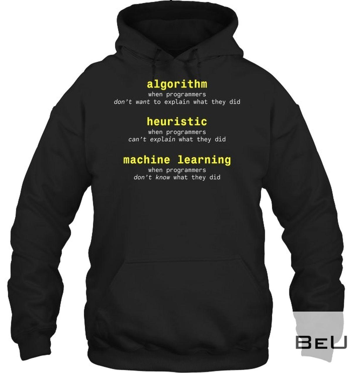 Algorithm Heuristic Machine Learning Shirtz