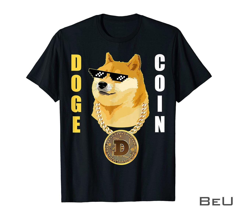 Dogecoin Cryptocurrency Thug Doge Gansta Crypto Altcoin Shirt