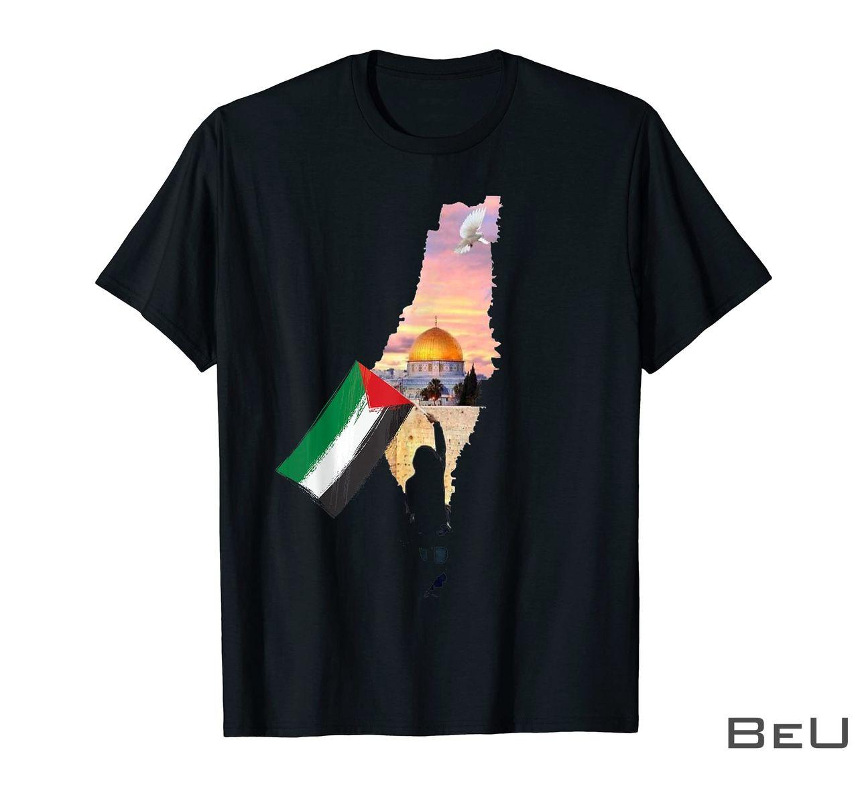 Free Palestine Map Flag Jerusalem's City Support Gaza Shirt