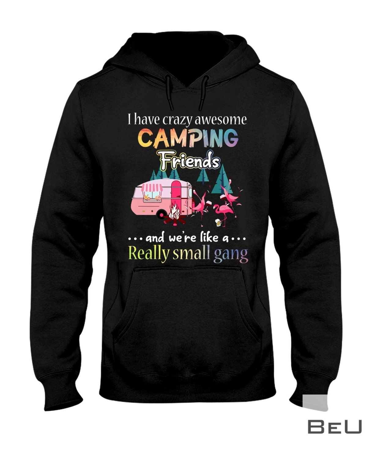 I Have Crazy Awesome Camping Friends And We're Like A Really Small Gang Shirtz