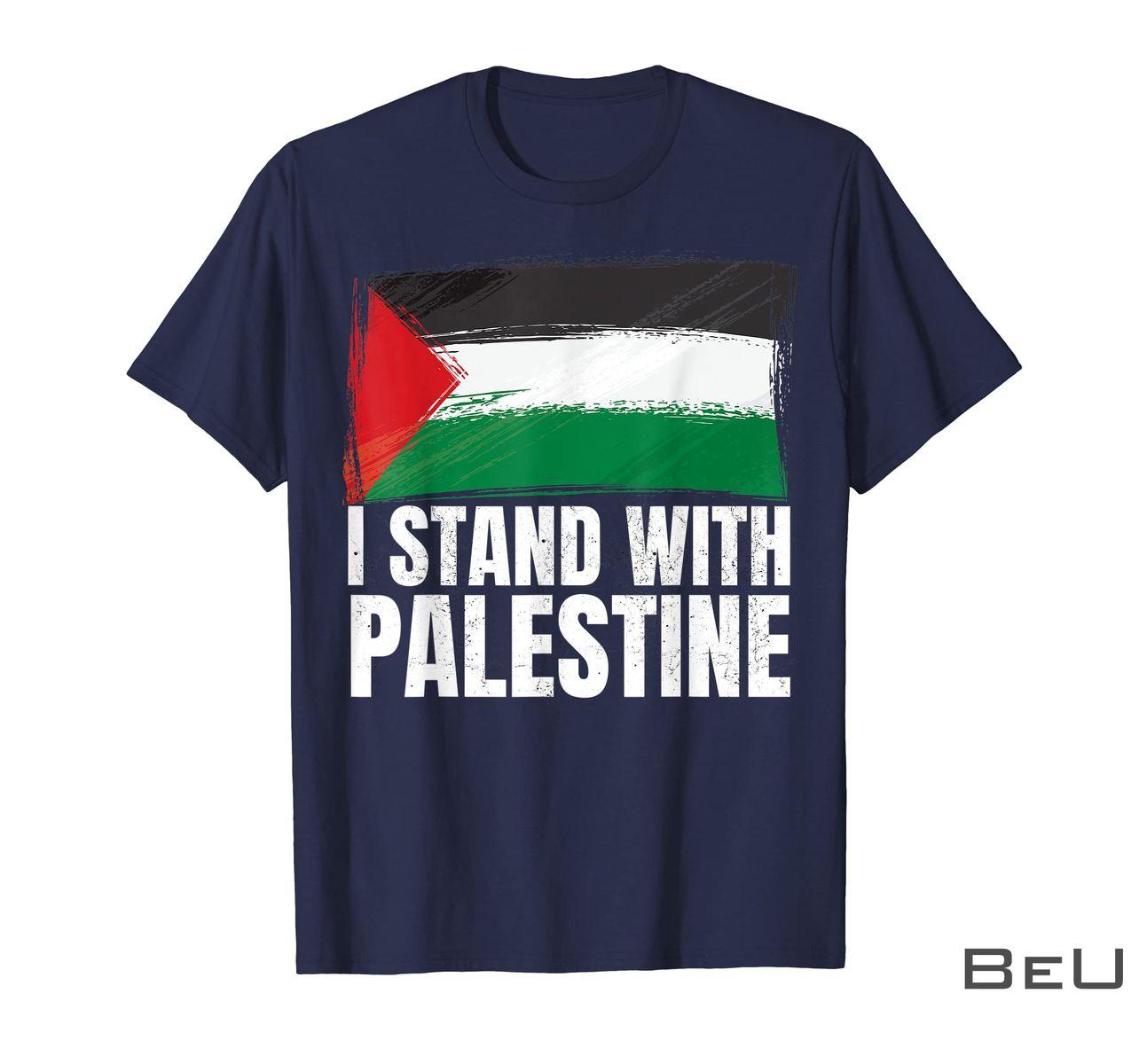 I Stand With Palestine Supporters Free Gaza Jerusalem Mosque Shirt z
