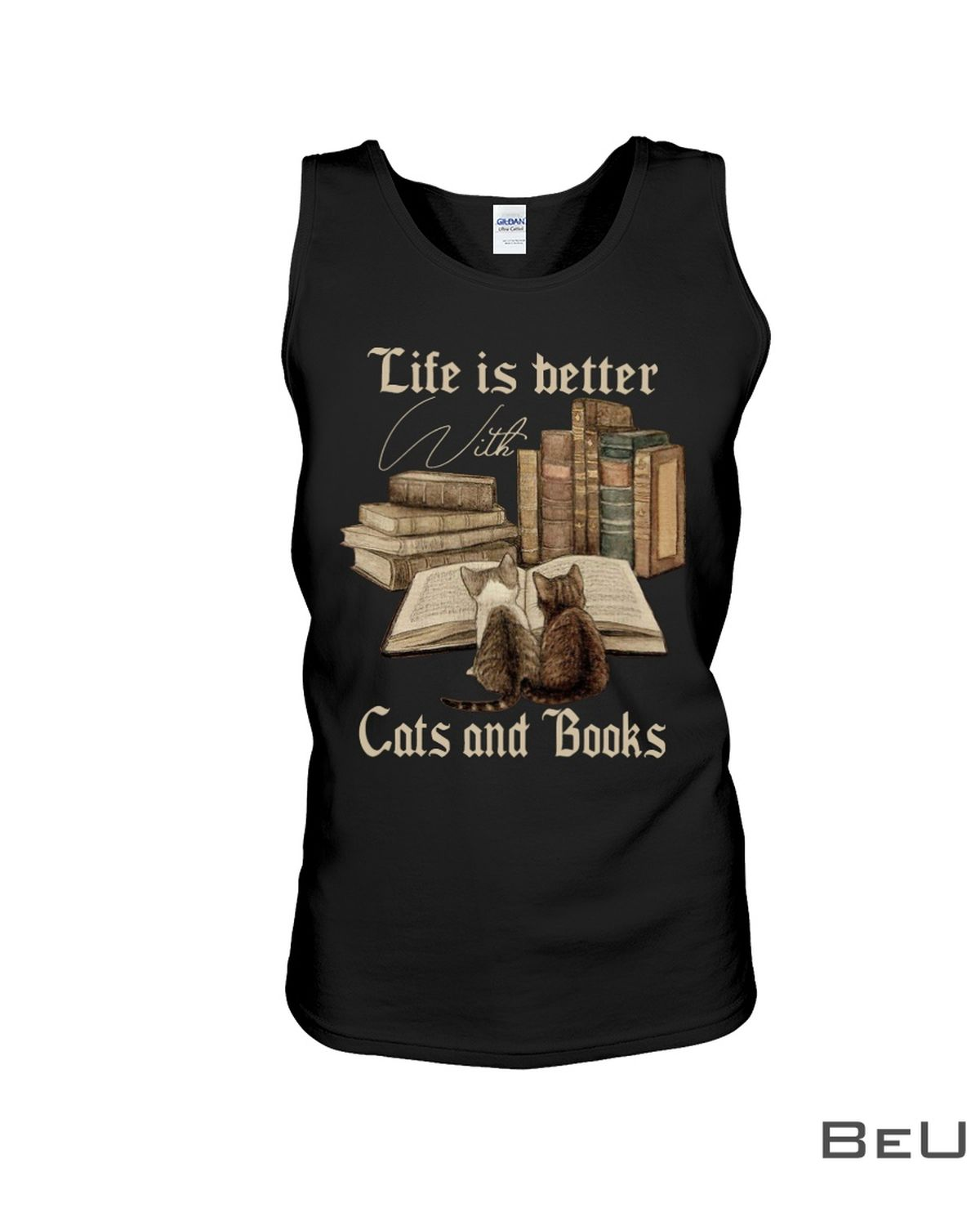 Life Is Better With Cats And Books Shirt c