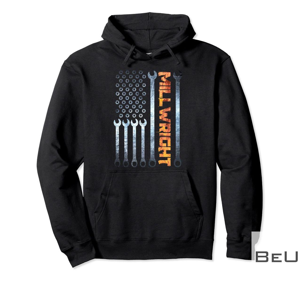 Millwright Tools Patriotic American Flag Shirt