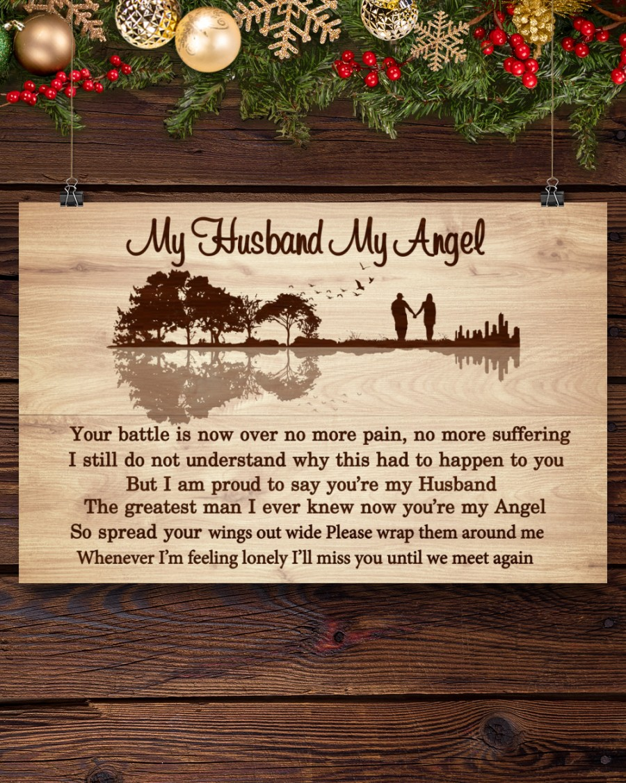 Review My Husband My Angel Your Battle Is Now Over No More Pain Poster