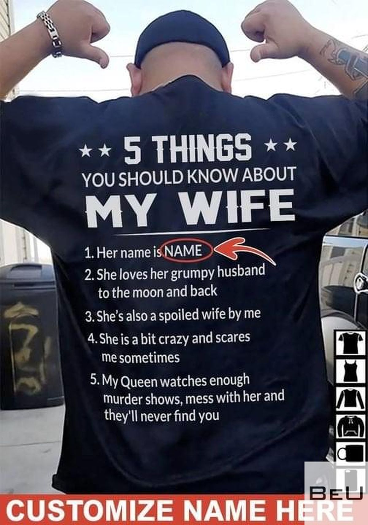 Personalized 5 Things You Should Know About My Wife Her Name Is Shirtv