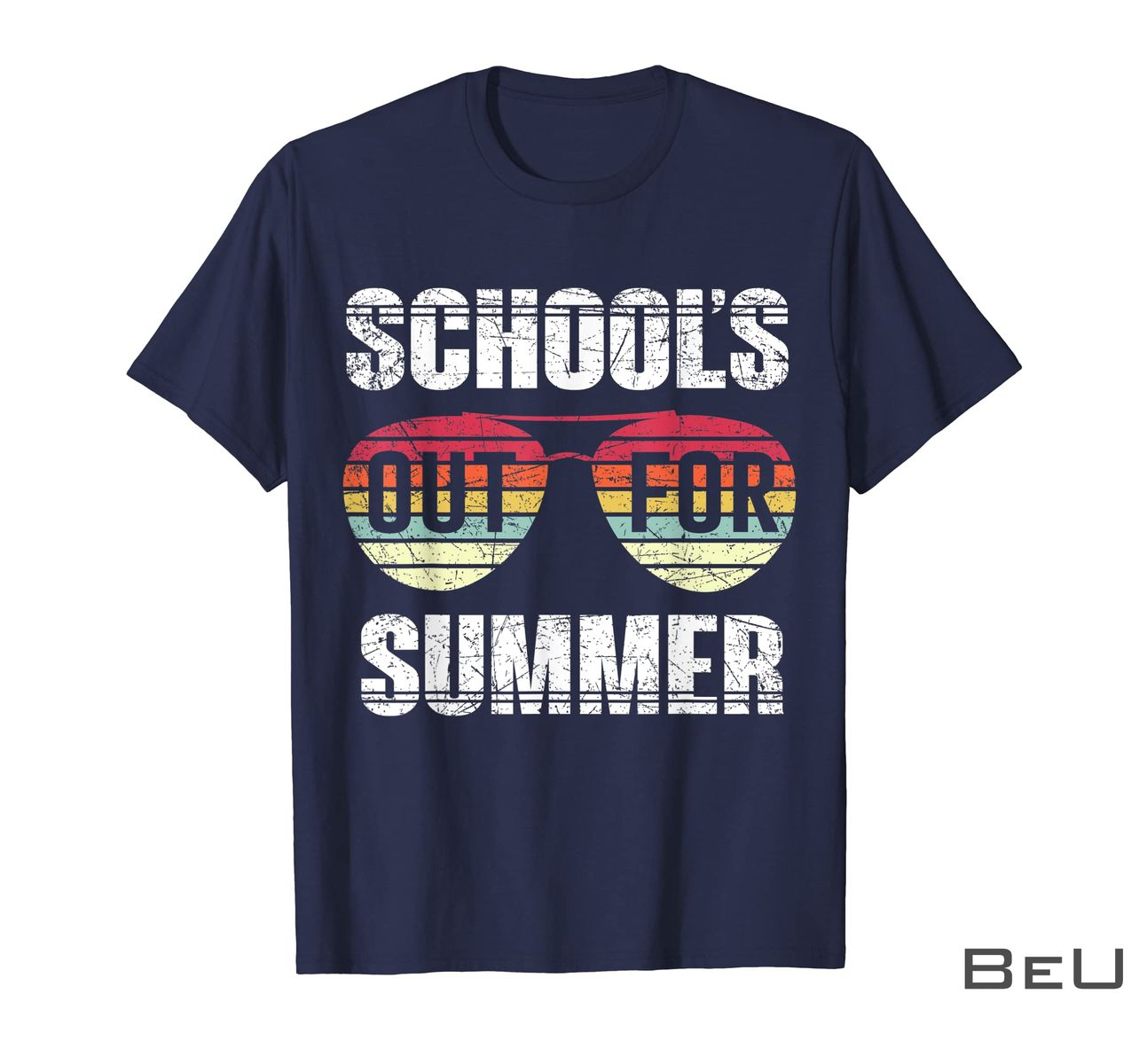 School's Out For Summer Happy Last Day Of School Vintage Shirt z