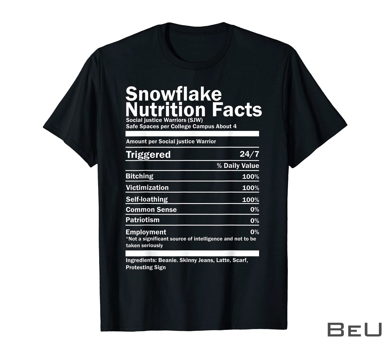 Snowflake Nutrition Facts Shirt