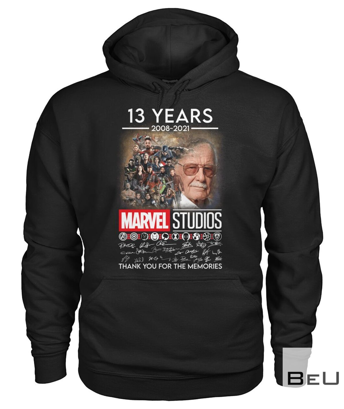 13 Years 2008 2021 Marvel Studios Thank You For The Memories Shirtz
