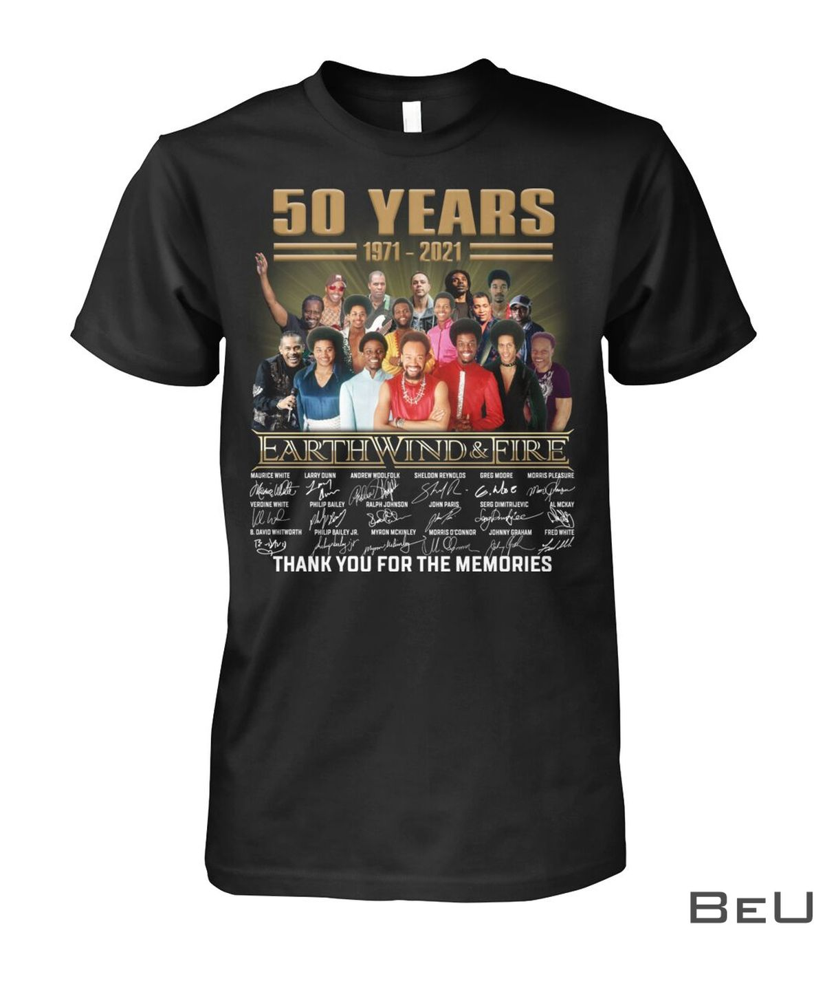 50 Years 1971- 2021 Earth Wind And Fire Thank You For The Memories Shirt