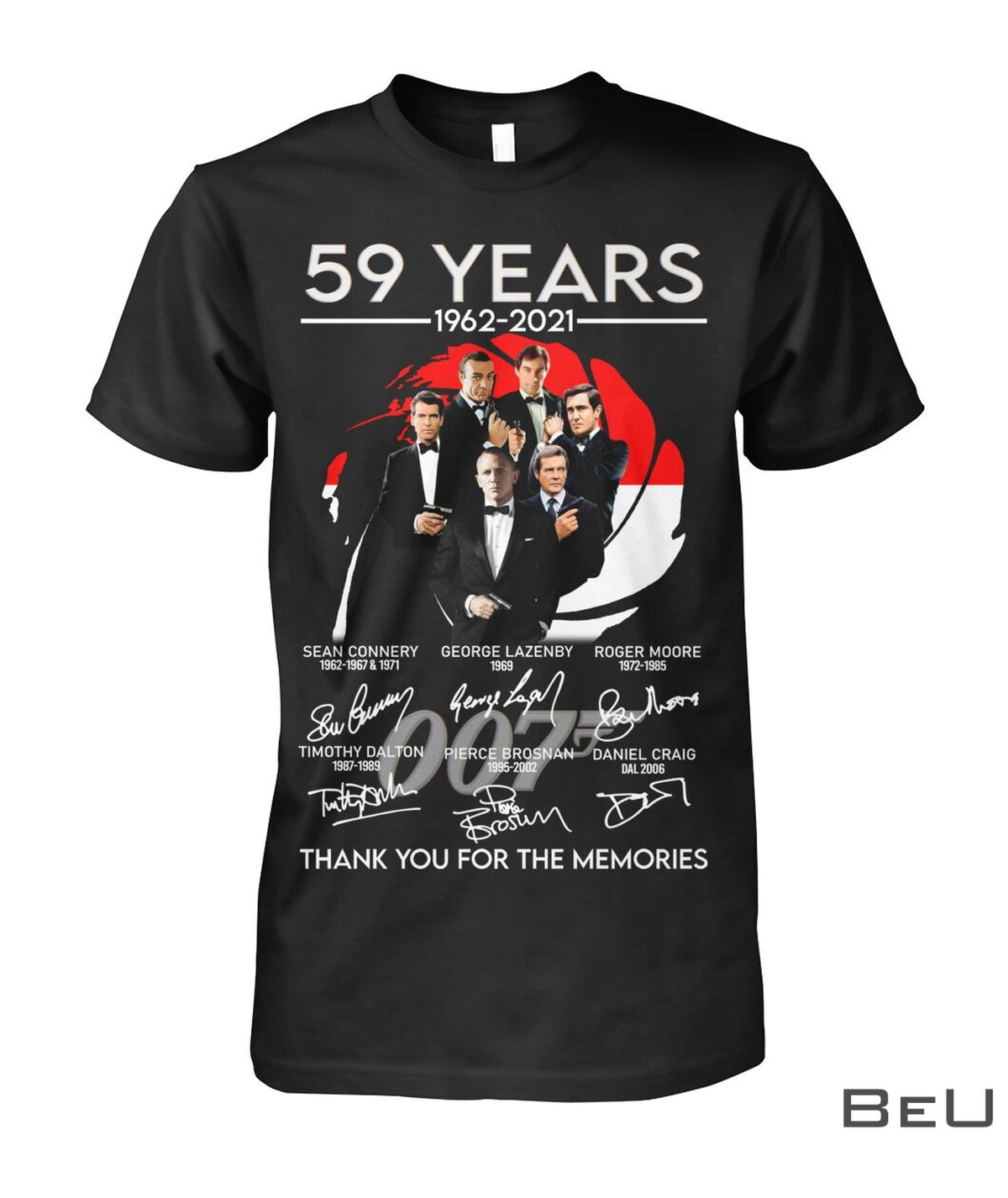 59 Years 1962-2021 Thank You For The Memories Shirt