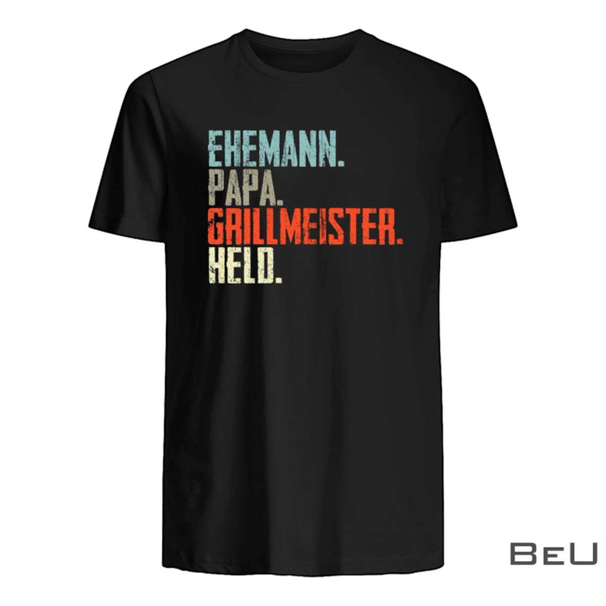 Ehemann Papa Grillmeister Held Shirt