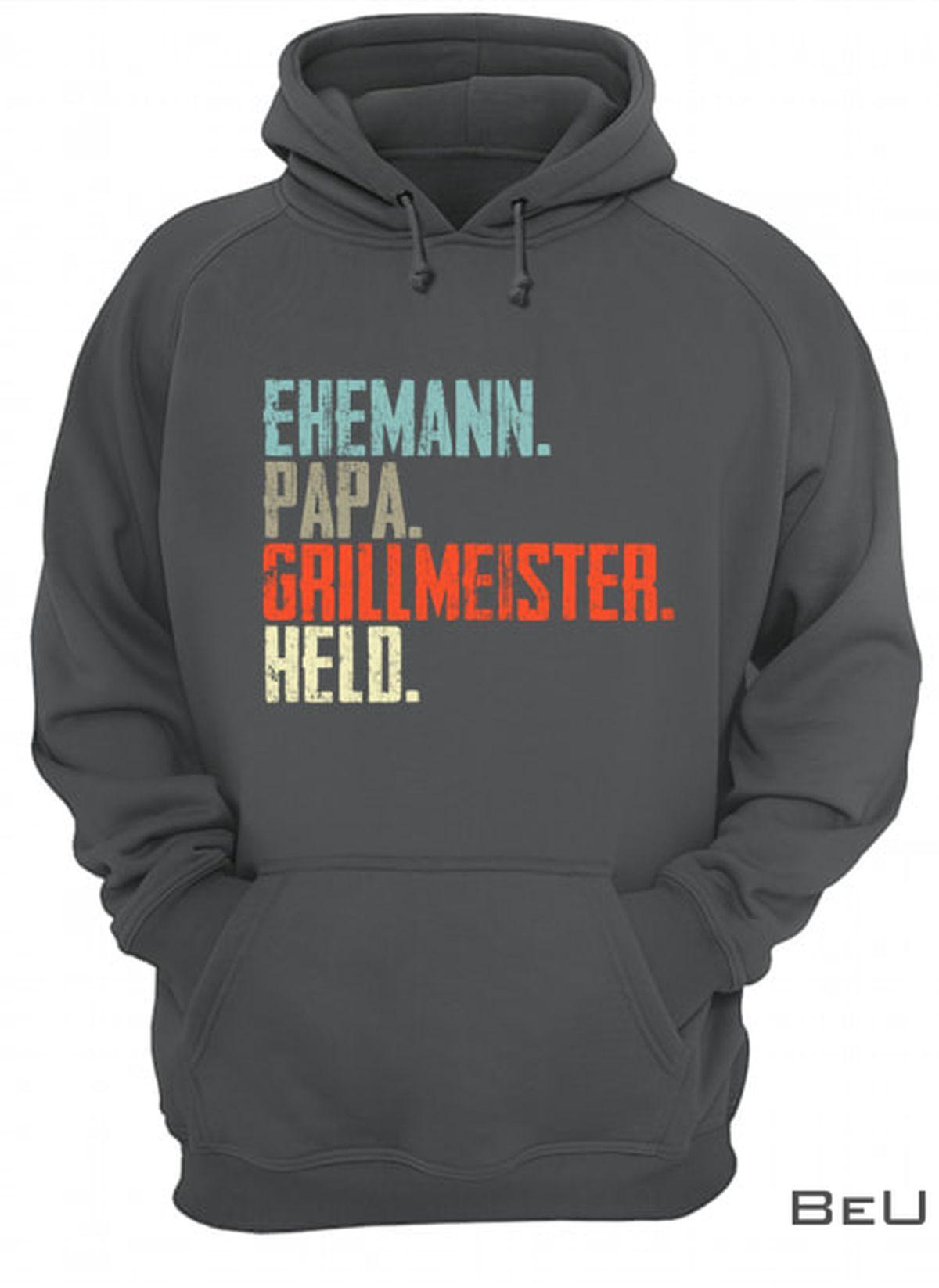 Ehemann Papa Grillmeister Held Shirtx
