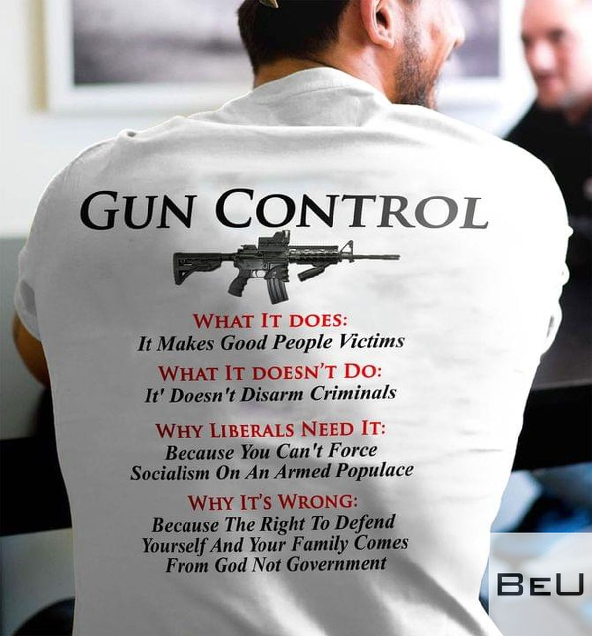 Gun Control What It Does It Makes Good People Victims Shirt v
