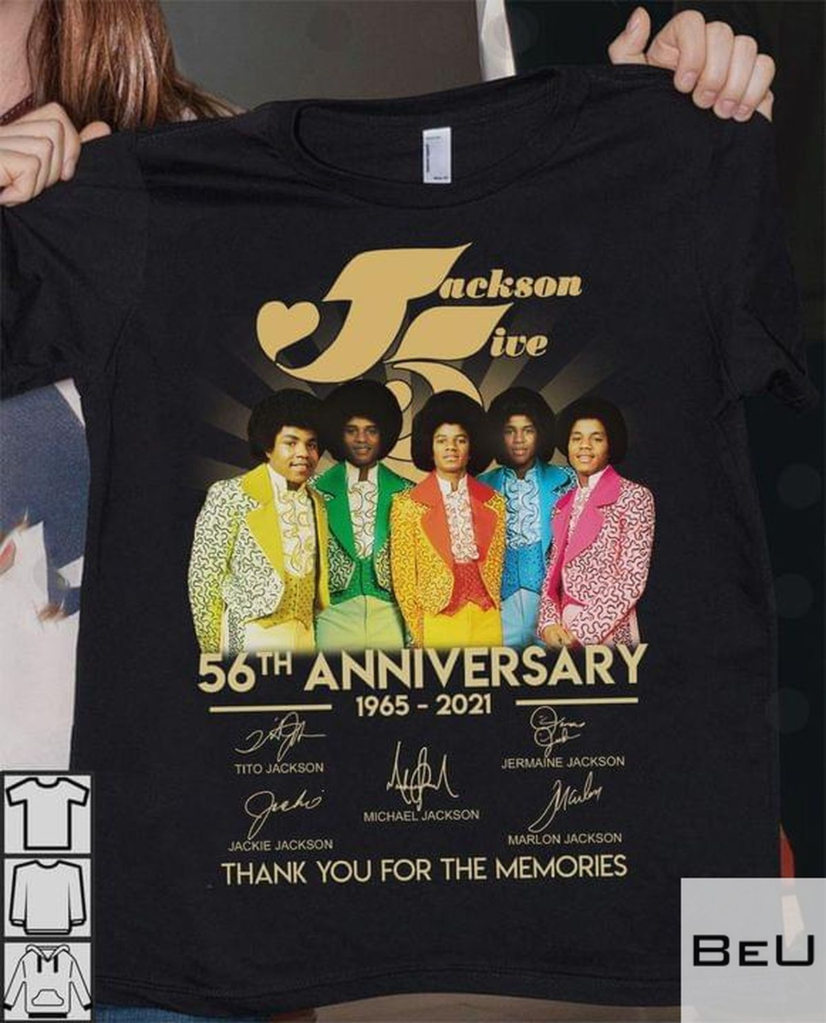 Jackson Five 56th Anniversary 1965 2021 Thank You For The Memories Shirt v