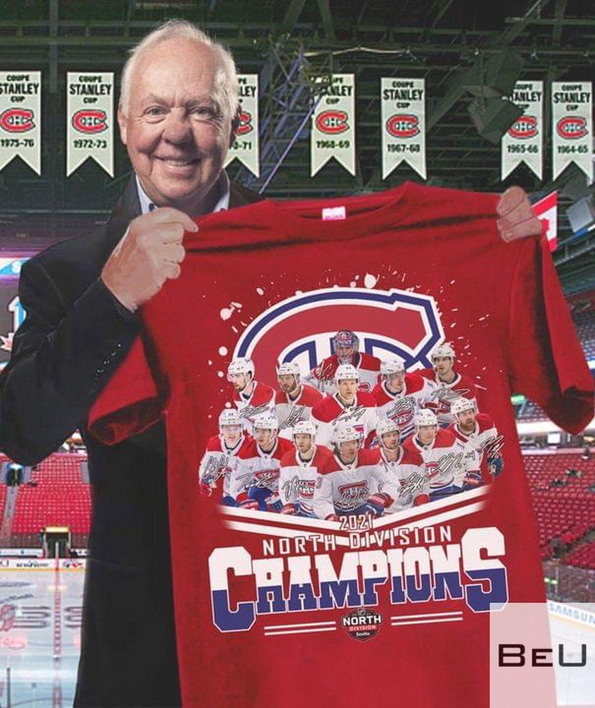 Montreal Canadiens 2021 North Division Champions Shirtv